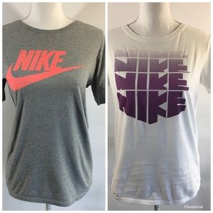Nike Women's SM classic tees t-shirts bundle of 2